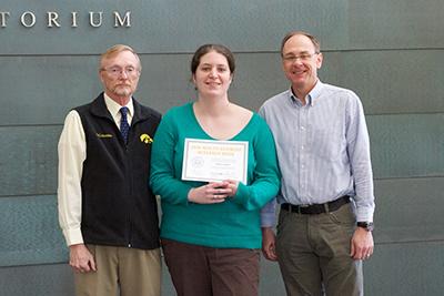 Rebecca Taughter receiving award